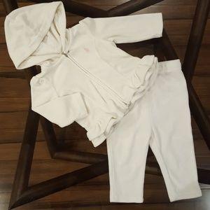 Ralph Lauren Ivory Cotton Sweatsuit, 6 months